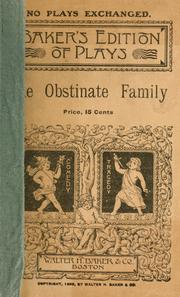 Cover of: The obstinate family |