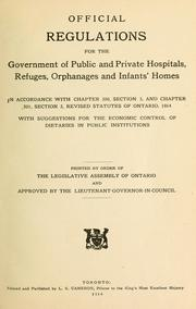 Laws, statutes, etc by Ontario.