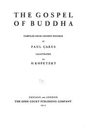 Cover of: Gospel of Buddha