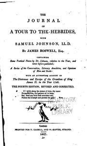 Cover of: The Journal of a Tour to the Hebrides, with Samuel Johnson, LL.D