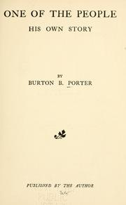 One of the people by Burton B. Porter