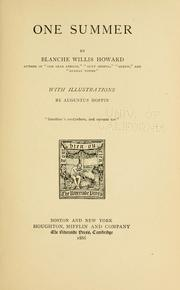 Cover of: One summer | Blanche Willis Howard