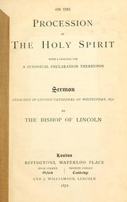 Cover of: On the procession of the Holy Spirit | Wordsworth, Christopher
