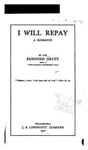 Cover of: I Will Repay: A Romance