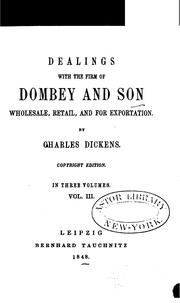 Cover of: Dealings with the Firm of Dombey and Son | Nancy Holder