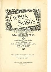 Cover of: Opera songs |