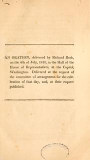 Cover of: An oration