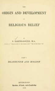 Cover of: The origin and development of religious belief