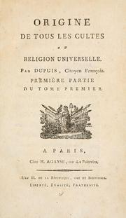 Cover of: Origine de tous les cultes