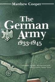 Cover of: German Army 1933-1945