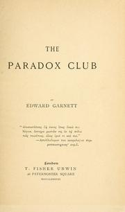 Cover of: The Paradox club