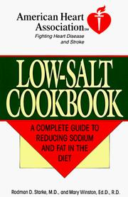 Cover of: The American Heart Association low-salt cookbook |