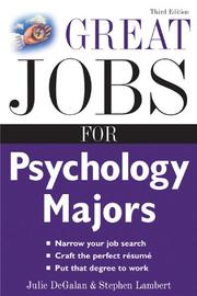 Cover of: Great jobs for psychology majors