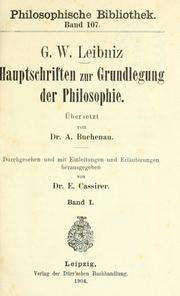 Cover of: Philosophische Werke