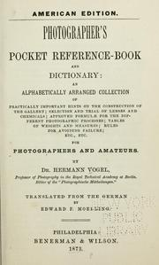 Cover of: Photographer's pocket reference-book and dictionary