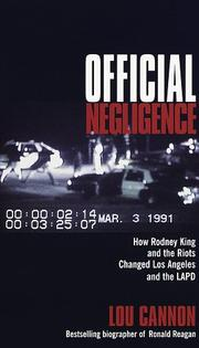 Cover of: Official Negligence