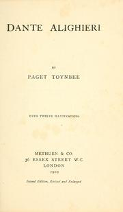 Cover of: Dante Alighieri