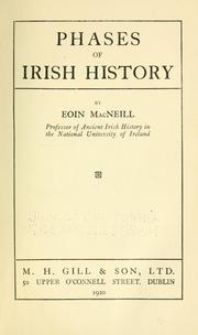 Cover of: Phases of Irish history