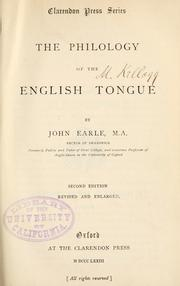 Cover of: The philology of the English tongue
