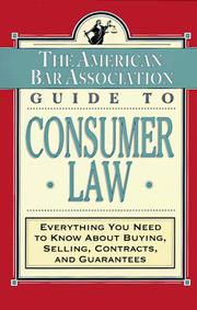 Cover of: The American Bar Association guide to consumer law |