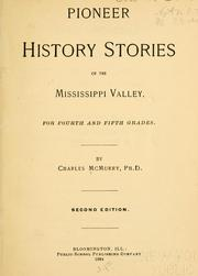 Cover of: Pioneer history stories of the Mississippi Valley