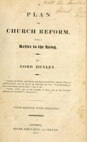 Cover of: A plan of church reform | Henley, Robert Henley Eden Baron