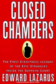Cover of: Closed chambers | Edward Lazarus