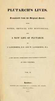 Cover of: Plutarch's lives | Plutarch