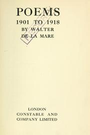 Cover of: Poems, 1901 to 1918