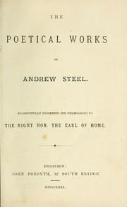 Cover of: poetical works of Andrew Steel. | Andrew Steel