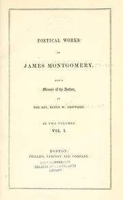 Poems by Montgomery, James