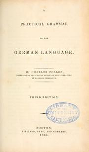 Cover of: A practical grammar of the German language