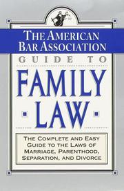 Cover of: The ABA Guide to Family Law | American Bar Association., ABA