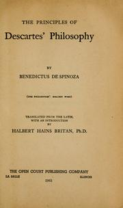 Cover of: Renati des Cartes Principiorum philosophiae