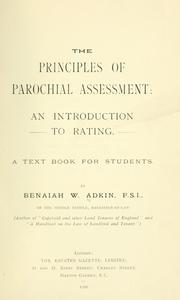 Cover of: The principles of parochial assessment
