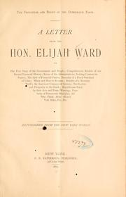 Cover of: principles and policy of the Democratic party. | Ward, Elijah