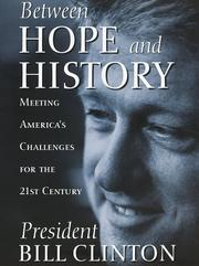 Cover of: Between hope and history