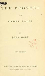 Cover of: The provost and other tales