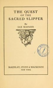 Cover of: The quest of sacred slipper
