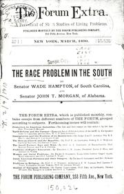 Cover of: The race problem in the South