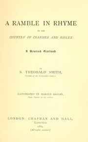 Cover of: A ramble in rhyme in the county of Cranmer and Ridley, a Kentish garland