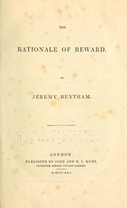 Cover of: The rationale of reward