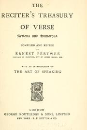 The reciters treasury of verse, serious and humorous