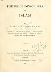 Cover of: The religious orders of Islám