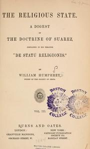 Cover of: The religious state | William Humphrey