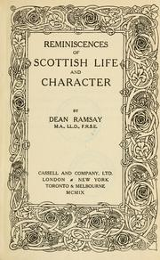 Cover of: Reminiscences of Scottish life & character | Edward Bannerman Ramsay