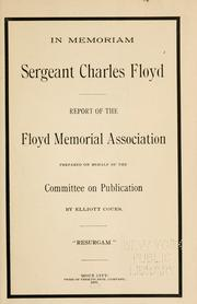Cover of: Report of the Floyd Memorial Association. | Floyd Memorial Association (Sioux City, Iowa).