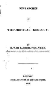 Cover of: Researches in Theoretical Geology