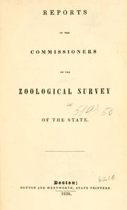 Cover of: Reports of the Commissioners on the zoological survey of the state. | Massachusetts. Zoological and Botanical Survey.
