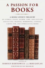 Cover of: A passion for books |